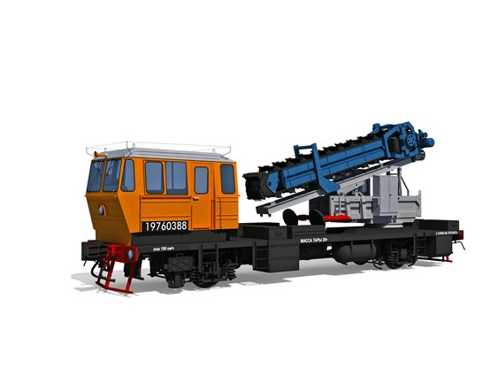 Support digger motor rail